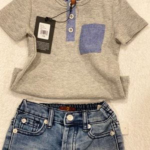 7 For All Mankind baby boy outfit.